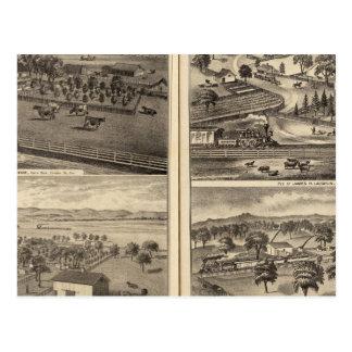 Residences of Robert Crane, EL Davis Postcard