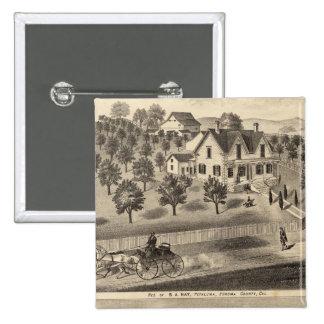 Residences of SA Nay and DM Winans Pinback Button