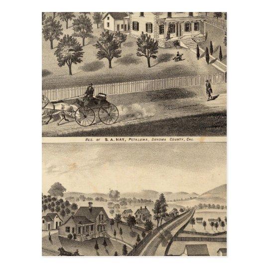Residences of SA Nay and DM Winans Postcard