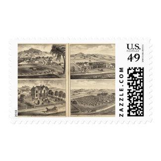 Residences of WA Lewis, John Fritsch, Hugh Gaston Postage