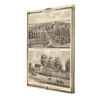 Residences of WH Hartsook and TW Parker Canvas Prints