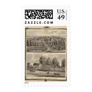 Residences of WH Hartsook and TW Parker Postage