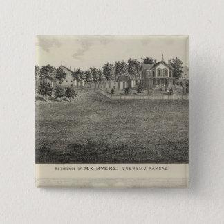 Residences, Quenemo and Lyndon Region, Kansas Button