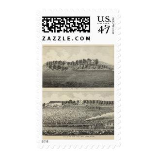 Residences, Quenemo and Lyndon Region, Kansas Postage