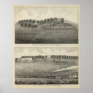 Residences, Quenemo and Lyndon Region, Kansas Poster