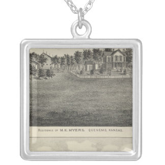 Residences, Quenemo and Lyndon Region, Kansas Silver Plated Necklace