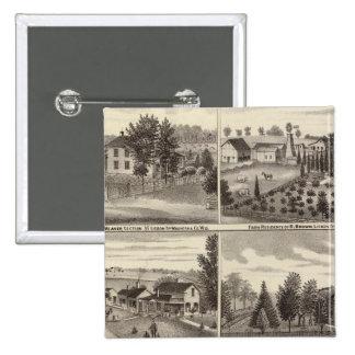 Residences, Waukesha & Kenosha counties Pinback Button