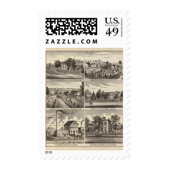 Residences, Waukesha & Kenosha counties Postage