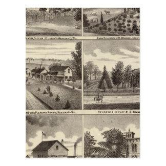 Residences, Waukesha & Kenosha counties Postcard