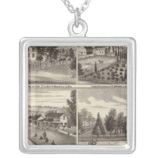 Residences, Waukesha & Kenosha counties Silver Plated Necklace