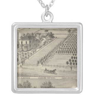 Residences Woodland, Knights Landing Silver Plated Necklace
