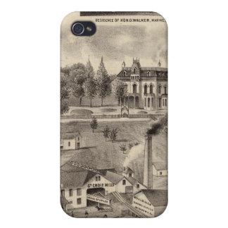 Residencia, almacén de maderas y molinos, iPhone 4/4S fundas