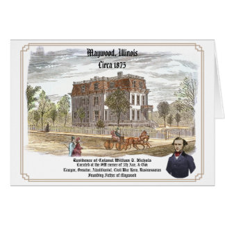 Residencia de coronel W T Nichols Tarjeton