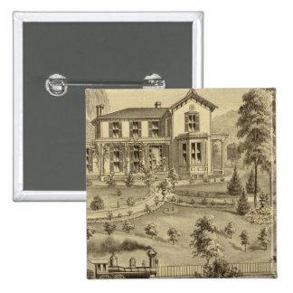 Residencia de David R Kerr Pin Cuadrada 5 Cm