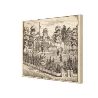 Residencia de Genl HH Baxter en Rutland Vermont Impresiones De Lienzo