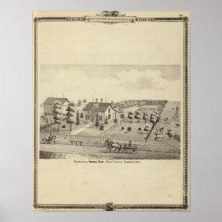Residencia de Isreal $cox, el municipio de la sala Póster