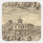 Residencia de Jehu P Smith, Sewickley Pegatina Cuadrada