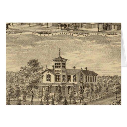 Residencia de Jehu P Smith, Sewickley Tarjeta De Felicitación