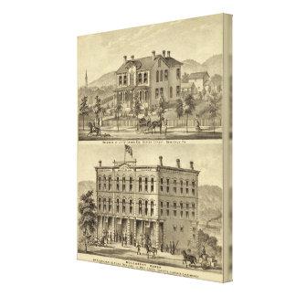 Residencia de JH McCreery Sewickly Impresión En Lona