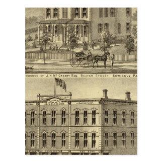 Residencia de JH McCreery Sewickly Tarjeta Postal