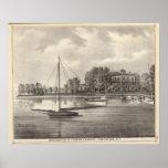 Residencia de José Francisco, el río de Tom, NJ Posters