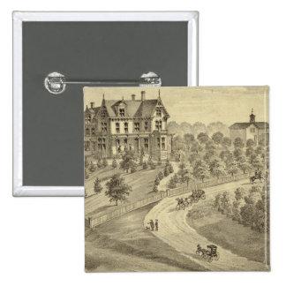 Residencia de Juan Biggert, estación de Idlewood Pin Cuadrada 5 Cm