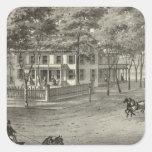 Residencia de Juan S Rogers en Manasquan, NJ Pegatina Cuadrada