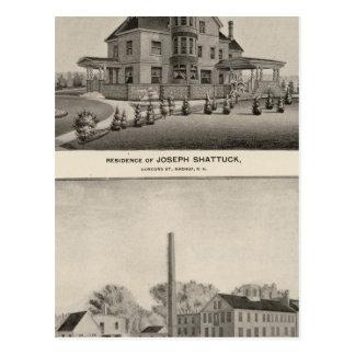 Residencia de Shattuck, molinos de McLane Tarjetas Postales