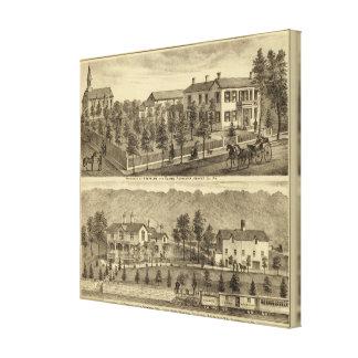 Residencia de Steffler y de Clark, Rochester Impresión En Lienzo