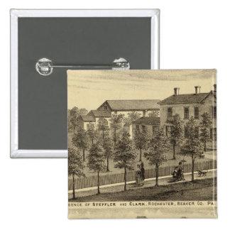 Residencia de Steffler y de Clark, Rochester Pin Cuadrado