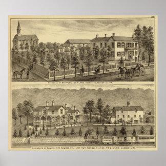 Residencia de Steffler y de Clark, Rochester Póster