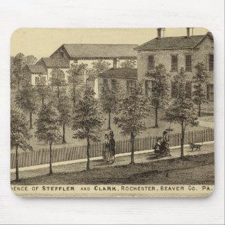 Residencia de Steffler y de Clark, Rochester Alfombrillas De Raton