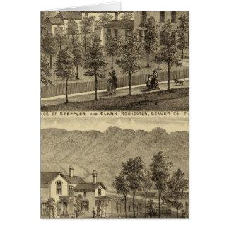 Residencia de Steffler y de Clark, Rochester Tarjeta De Felicitación