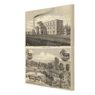 Residencia de Worksand del almidón del Topeka de D Lona Estirada Galerías