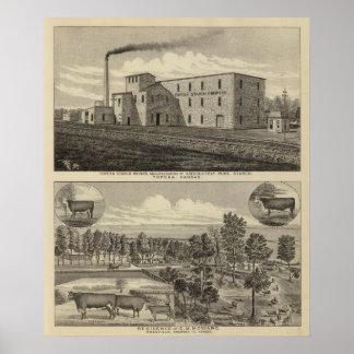 Residencia de Worksand del almidón del Topeka de D Póster