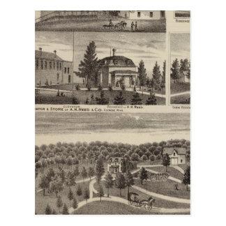 Residencia en Hutchinson, Minnesota Tarjeta Postal