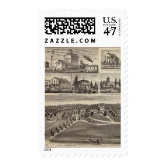 Residencia en Hutchinson, Minnesota Timbre Postal
