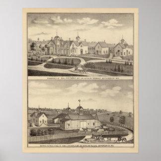 Residencia, granero y dependencias de AR Earle Póster