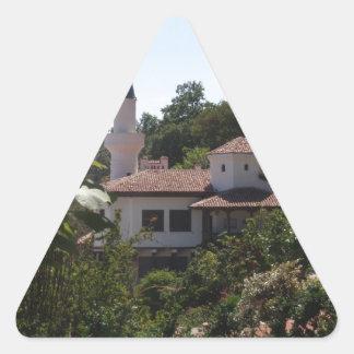 Residencia real calcomanía de triangulo