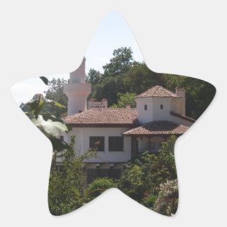 Residencia real pegatina en forma de estrella