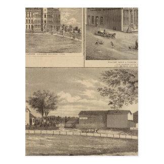 Residencia, universidad del oeste de la libertad tarjetas postales