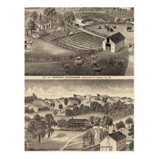 Residencias de Charles Alexander Tarjeta Postal