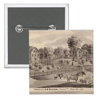 Residencias de DB Murrow y Geo Crawford Pin Cuadrada 5 Cm