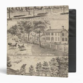 """Residencias de Dunn, de Burditt y de Benedicto en Carpeta 1 1/2"""""""