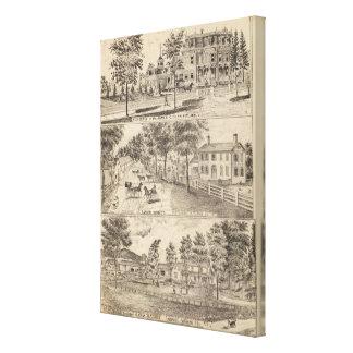 Residencias de Dunn, de Burditt y de Benedicto en  Impresión De Lienzo