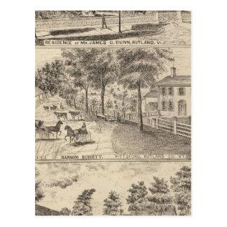Residencias de Dunn, de Burditt y de Benedicto en Postales