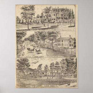 Residencias de Dunn, de Burditt y de Benedicto en  Póster