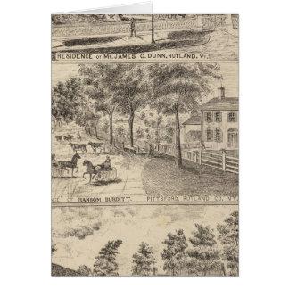 Residencias de Dunn, de Burditt y de Benedicto en  Tarjeta De Felicitación