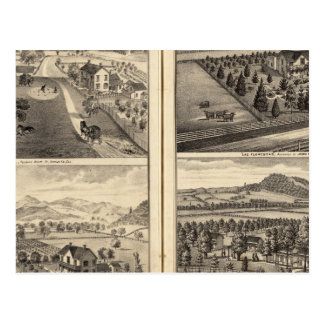 Residencias de Franklin Bedwell Tarjeta Postal