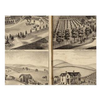 Residencias de Juan Turner CA Shelton H Wilsey Tarjeta Postal